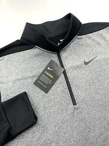 Nike Golf Essential Therma Half-Zip Pullover Sweater Gray Black Mens M L