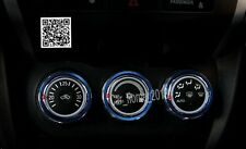 Blue 3pcs Air Condition Knot Button Cover  For Mitsubishi ASX 2013 2014 2015