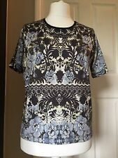 River Island Short Sleeved Top Size 12 Blue Mix