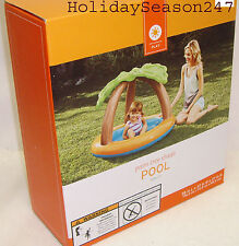 Inflatable Baby Kid Toddler PALM TREE SHADE POOL Water Play Wading Swimming Yard