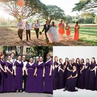 Ever-Pretty Dark Purple V-Neck Evening Prom Gowns Long Bridesmaid Dresses 09890