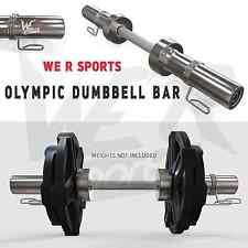 "2"" Olympic Dumbbell Bar Set With Spring Collar Dumbbells Free Weights Training"