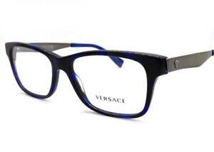 Versace VE 3245 Eyeglasses Blue Havana Ruthenium 5237 Authentic 55mm