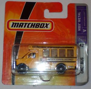 Matchbox Superfast 2008 No 42 GMC SCHOOL BUS   MBX Metal MIB