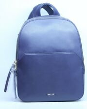 Bally Akira Ink Navy Blue Leather Designer Backpack Bag New Discontinued Rare