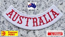 """Australia"" Rocker Biker Harley Davidson Motorcycle Vest Patches Iron Sew On"
