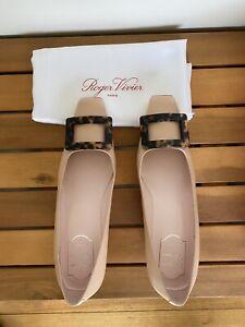 Roger Vivier Belle Vivier Beige Nude Pumps Shoes Size 37.5 AU 8 New With Box