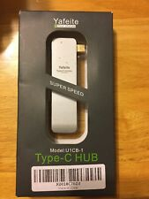 Yafeite USB C Hub USB C Adapter, with 2 SD + Micro SD Card Reader 3 USB 3.0 D8
