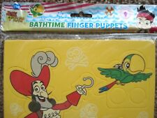 ***NEW*** FOAM FINGER PUPPETS, JAKE AND THE NEVERLAND PIRATES BATHTIME. DISNEY