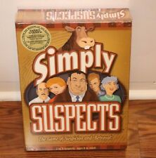 [NEW SEALED] SIMPLY SUSPECTS SPY ALLEY BOARD GAME KIDS FAMILY FUN NIGHT GAMES
