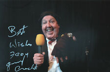 JIMMY CRICKET Signed In Person 12x8 Photo THE COMEDIANS Photo Proof COA
