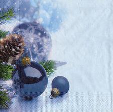 4 lose Servietten Motivservietten Weihnachten Weihnachtskugeln (1232)