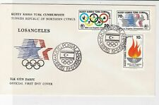 Turkish Federated Cyprus 1984 Olympics C*Rings Cancel FDC Stamps Cover Ref 23646