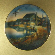 The Duck Inn Wild Wings Plate Sam Timm 1995 Vintage Cars Truck Fishing 9 1/4""