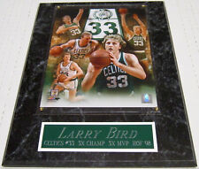 LARRY BIRD BOSTON CELTICS FRAMED 8X10 PHOTO-MAN CAVE ART-12X15 WALL PLAQUE DECOR