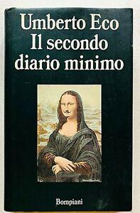 Umberto Eco Il secondo diario minimo Prima edizione Bompiani 1992 rilegato