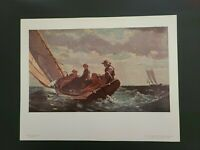 Winslow Homer National Gallery of Art - VTG Print - Breezing Up - Un-Framed
