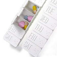 Large 7Day Pills Dispenser Holder Medicine Tablet WeekBox Organizer s Gift O0B3