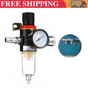 1/4'' BSP Air Line Filter Separator Regulator Compressor Gauge Oil Water Trap BF
