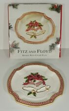 2001 Fitz & Floyd Holiday Bells Canapé Plate New In Box