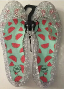 Wonder Nation Youth Girls Clear Jelly Shoes Sizes  2, 3, 4,