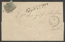 Italy Roman State #3 1852 2Baj greenish white on Canneto to Viterbo 1866 cover