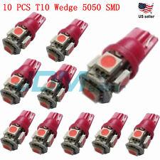JDM ASTAR 10x T10 Pink 5050 SMD LED Car Interior Festoon Map Dome Light 194 168