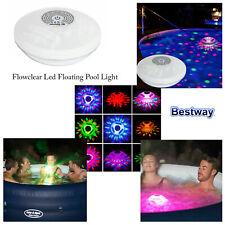 Bestway Layz Spa Caliente Bañera Flowclear Multicolor Rgby LED Flotante Pool Luz
