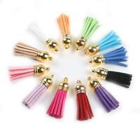10X Women Leather Tassel Charm Key Chain Keyring Pendant Handbag Bag Accessory