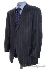 CANTARELLI Gray Striped 100% Wool Jacket Pants SUIT Mens - EU 52 / US 42 R