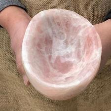 3.89LB Natural pink rose Quartz Crystal ashtray Mineral specimen healing WW75