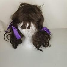 Vintage Modacrylic Fibre Brunette Long Wavy Italian Synthetic Hair Cosplay