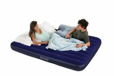 Air Mattress Intex Inflatable Downy Queen Sleeping Bed Camping In/Outdoor New