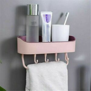 New Storage Basket Bathroom Corner Suction Shelf Shower Tidy Wall Caddy Rack