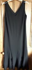 Stephanie Black sleeveless long vee neck dress SIZE 20.  EXCELLENT CONDITION