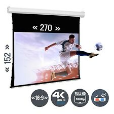 Beamer Leinwand Tension Motorleinwand 120 Zoll 270 x 150 / 16:9 Full HD 3D 4K