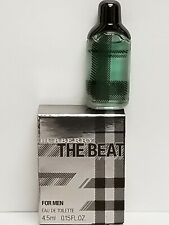 BURBERRY THE BEAT Eau De Toilette FOR MEN 4.5ml / .15 FL. OZ. ~ MINI SIZE
