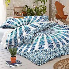 Comforter Quilt Duvet Doona Cover Indian Mandala Ombre Bed Set Pillow Cotton Art