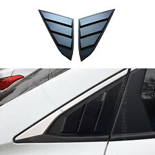 2pcs Car Triangle shutter Window Shades Decoration Cover For Honda Civic 16-17
