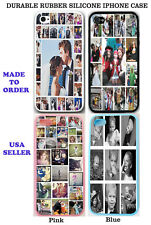 PERSONALIZED PHOTO COLLAGE RUBBER SILICONE CASE COVER FOR IPHONE 5S CUSTOM IMAGE
