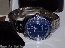 Croton Mens Paul Du Pree Bracelet Watch Blue Dial S. Stainless Quartz Movement