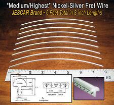 6 Feet Premium Jescar Medium/Highest Fret Wire/Frets for Guitar & More