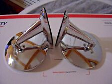 NOS:VINTAGE CLASSIC CHROME TWIN SPORT ROUND CAR & TRUCK SIDE VIEW MIRRORS