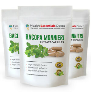 Bacopa Monnieri Extract (COMPLEX) Capsules (Brahmi) Ultra Strength 50% Bacosides