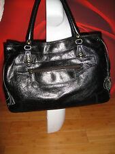 Superb RED HERRING black leather  shoulder  bag  handbag