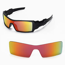 New Walleva Fire Red Lenses For Oakley Oil Rig Sunglasses