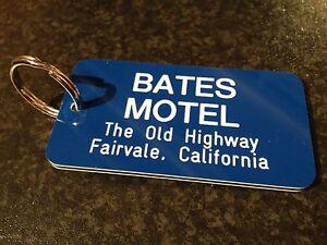 BATES MOTEL REPLICA KEY TAG, PSYCHO FILM KEY TAG, HOTEL KEY RING