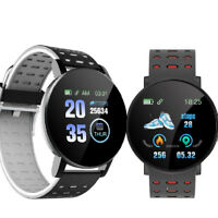 OLED Bluetooth Smartwatch D18-2 Pulsuhr IP66 wasserdicht iOS Android Huawei LG