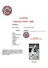 LES BRILEY ALDERSHOT 1979-1984 ORIGINAL HAND SIGNED PICTURE CUTTING