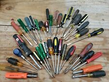 Lot Of 39 Assorted Screwdrivers And Other Tools Phillips, Bit And Regular